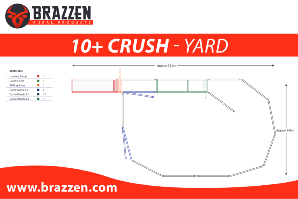 Brazzen Yard Plan 10-20 Cattle Crush