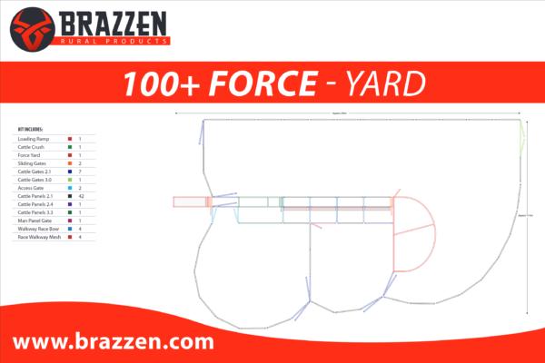 Brazzen Yard Plan 100-200 Cattle Force