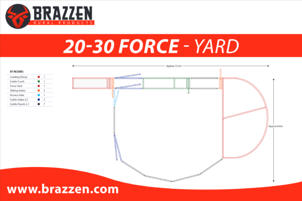 Brazzen Yard Plan 20-30 Cattle Force