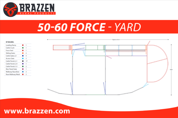 Brazzen Yard Plan 50-60 Cattle Force