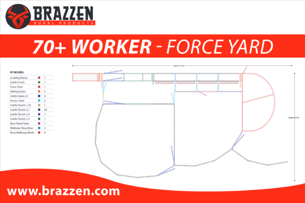 Brazzen Yard Plan 70-100 Cattle Worker